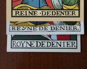 Evolución de los nombres Royne, Reyne y Reine en el Tarot de Marsella