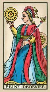 Reine de Denier del Tarot de Pablo Robledo