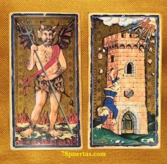 Diablo y Torre del Tarot Visconti Sforza de Il Meneghello