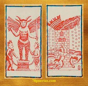 Diablo y Torre del Tarot Visconti Sforza US Games Primera Edición