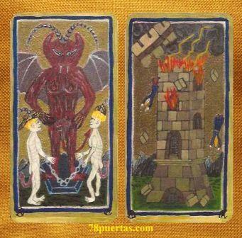 Diablo y Torre del Tarot de Alice Cooper