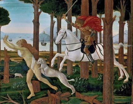 El Tarot como Poema Visual Boticelli Decameron 1
