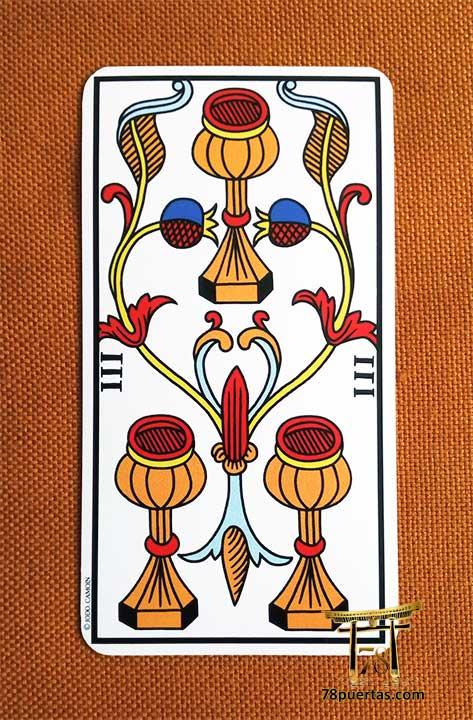 3 de Copas Los Hijos en el Tarot