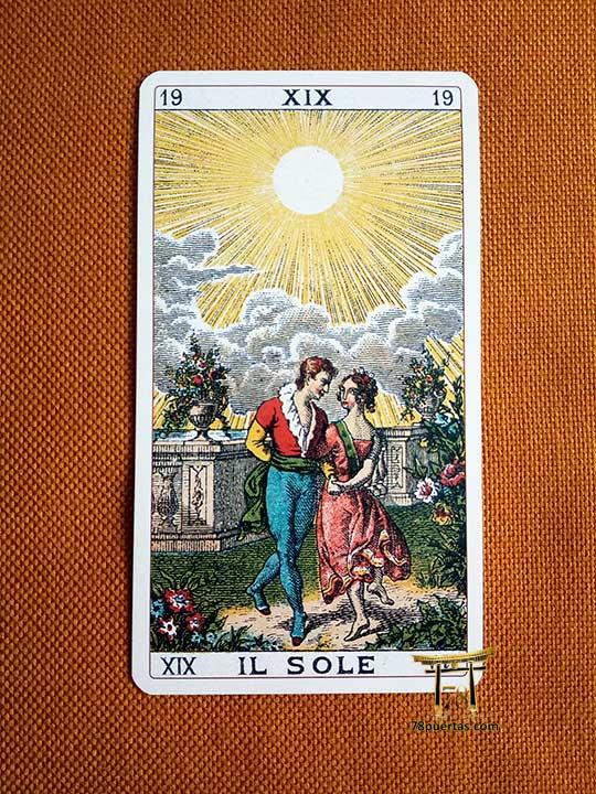 Arcano del Sol - El Amor en el Tarot