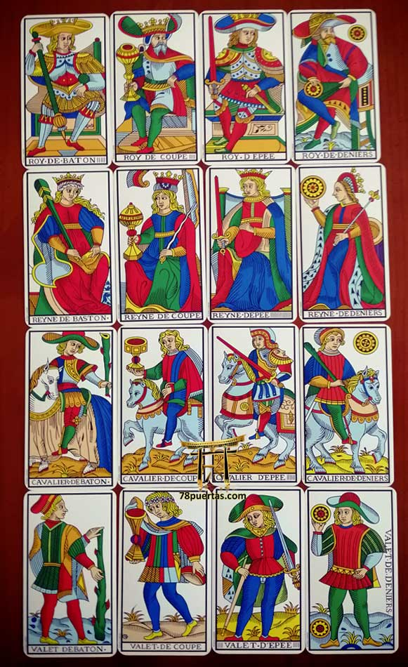 Cartas de Corte del Tarot de Marsella