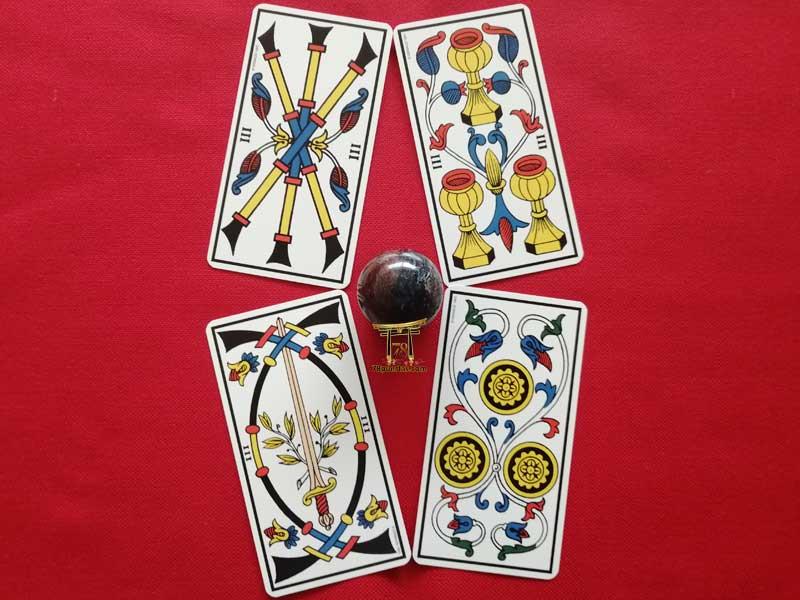 Los Treses del Tarot de Marsella