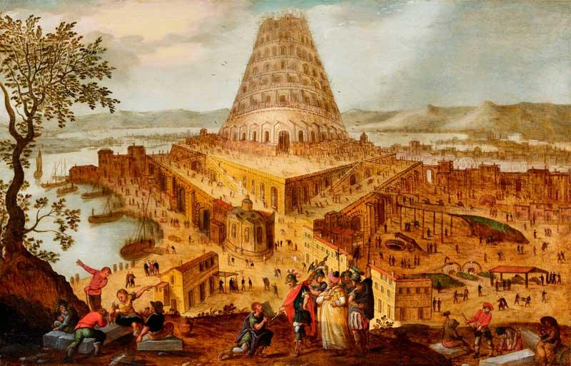 Hendrick van Cleve (círculo de), El Rey Nimrod ante la Torre de Babel