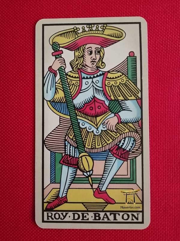 Rey de Bastos del Tarot de Pablo Robledo