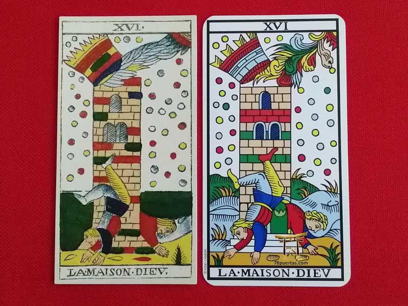 Torre del Tarot de Marsella Tipo I y Tipo II